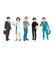 set people related to different professions vector image vector image