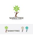 shaky tree logo vector image vector image