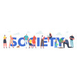 society concept characters lifestyle adult vector image
