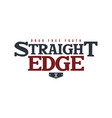 straight edge badge label vector image vector image