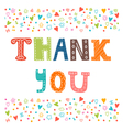 Thank you card design Cute greeting card vector image