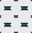 ticket icon sign Seamless abstract background with vector image