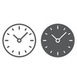 time line and glyph icon clock and minute vector image vector image