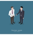 Two business man talking vector image