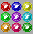 USB icon sign symbol on nine round colourful vector image vector image