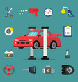 various details for car service flat vector image vector image