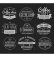 Vintage logo Coffee shop template Restaurant vector image vector image