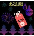 Christmas and New Year Sale promotion sticker vector image