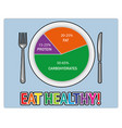 eat healthy4 vector image