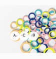 3d rings on grey geometrical modern abstract vector image vector image