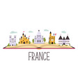 abstract banner with famous buildings landmarks vector image