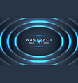 abstract blue circle metallic 3d background vector image