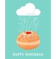 abstract card for hanukka jewish holiday vector image vector image