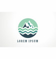 abstract mountain and water logo vector image