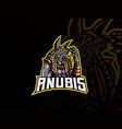 anubis mascot sport logo design vector image vector image