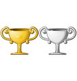 award cup silver gold vector image