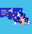 back to school inspiration poster flat design vector image vector image