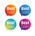 best seller label tag vector image vector image