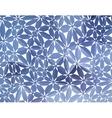 Blue floral pattern vector image vector image