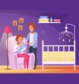 breastfeeding cartoon composition vector image vector image