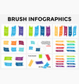 brush stroke banners infographic templates vector image vector image