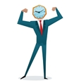 Businessman watch head vector image vector image