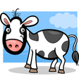 calf baby farm animal cartoon vector image vector image