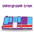 Collection transportation of underground train vector image