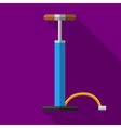Colorful car or bicycle hand air pump icon in vector image