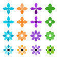 colorful flower icon set on a white background vector image vector image