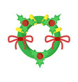 decorative garland holly berries vector image