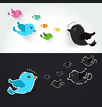 different set of cute birds flying vector image