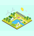 ecology green energy consumption concept 3d vector image vector image