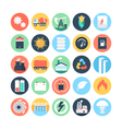 Energy and Power Colored Icons 3 vector image vector image