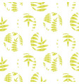 fern green leaves circles seamless pattern vector image vector image