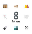flat icon play set of chequer dice people and vector image vector image