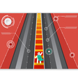 Fly go to Road of targeted vector image