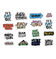 fun patch collection vector image