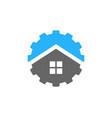 gear real estate logo icon design vector image