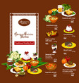 german cuisine menu with restaurant dishes vector image vector image