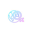 global feminism gradient linear icon vector image vector image