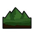 green mountains icon vector image vector image