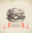 Hamburger hand drawn background vector | Price: 1 Credit (USD $1)