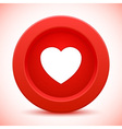 heart red button vector image vector image