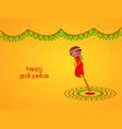 hindu festival gudi padwa vector image vector image