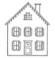 house vintage vector image vector image