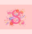international womens day card in russian vector image vector image