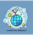 marketing research thin line concept vector image vector image