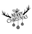 merry christmas decoration vector image vector image