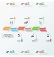 Minimal infographic timeline vector image